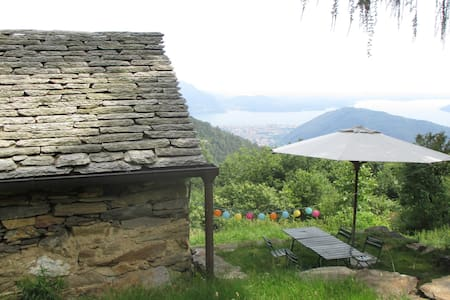 "Mountain hut ""Vrei"" - Lake Maggiore view - Miazzina - 其它"