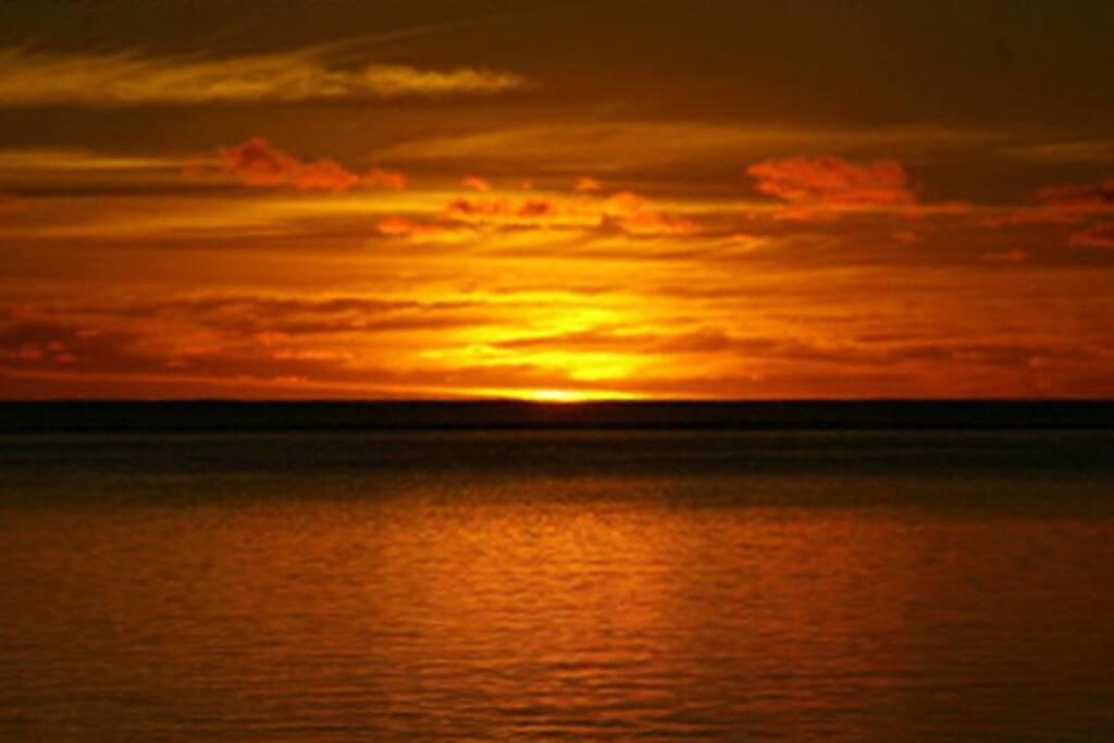 sunset à la plage