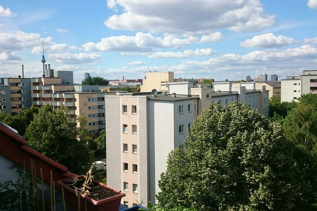 View from north terrace - you can see the TV tower and the rooftops of kreuzberg