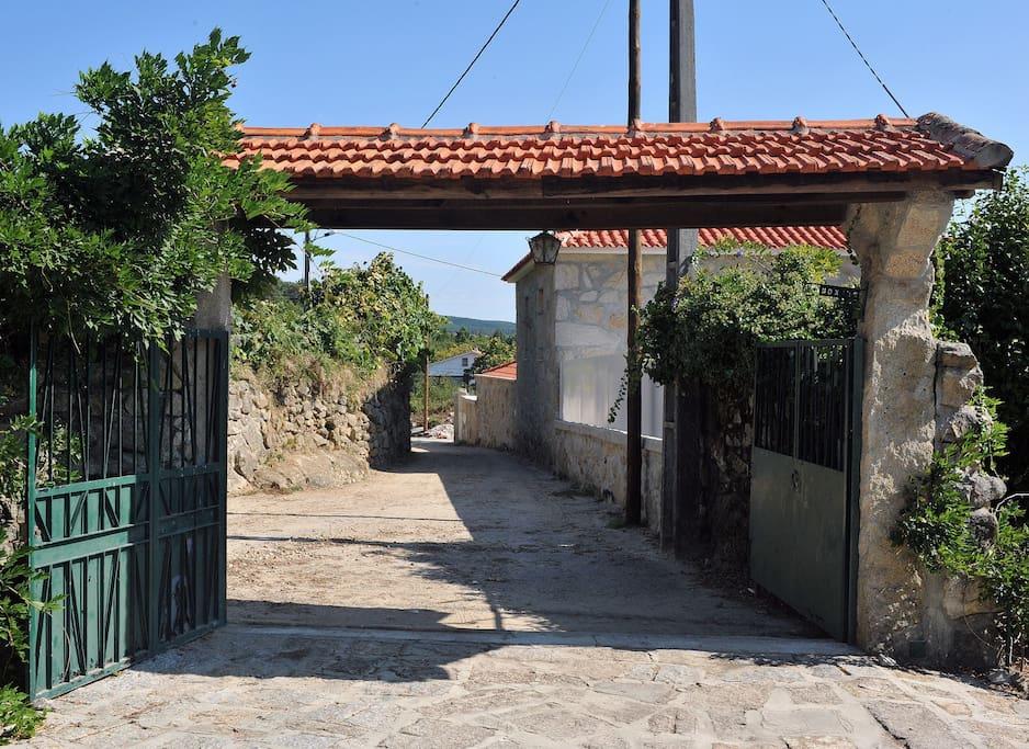 The entrance of our property Çasa Lagarto