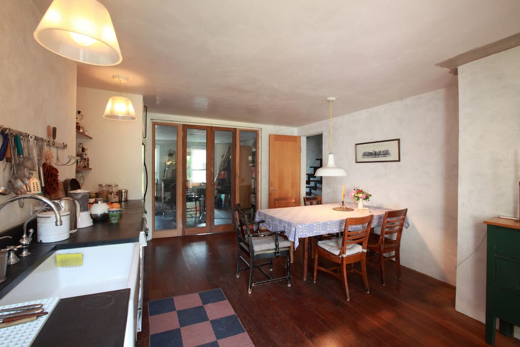 Kitchen with large dining table
