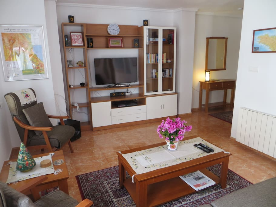 Living area with TV/DVD system