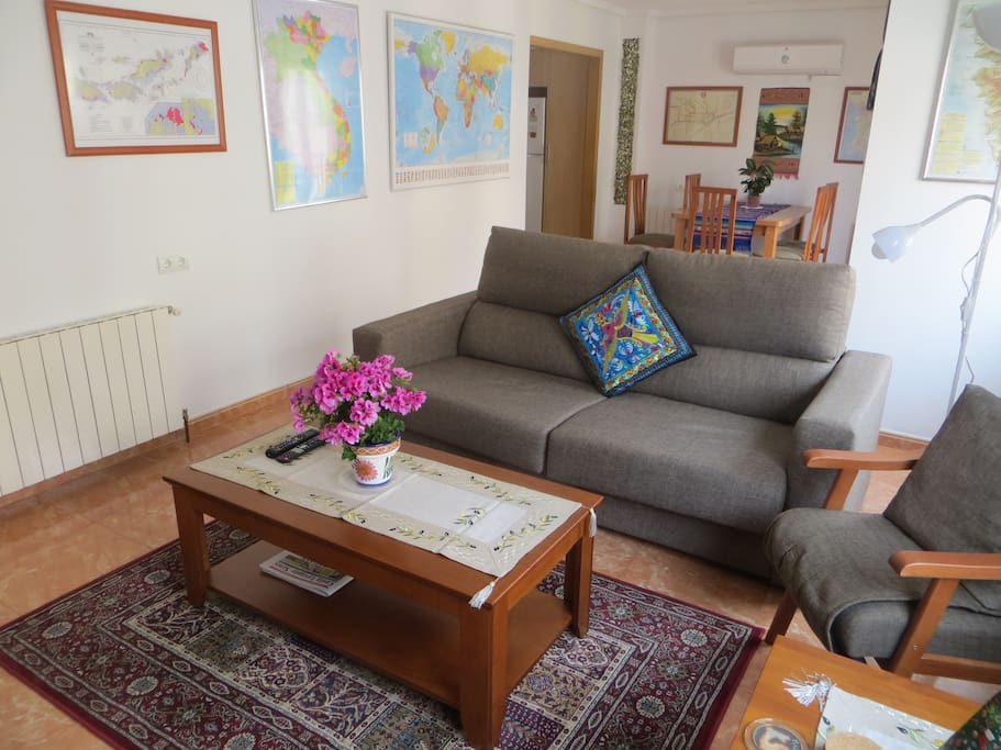 Living area with dining area behind