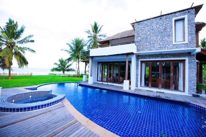 Beach Front Pool Villa For 2 - 8 p~ - Kui Buri