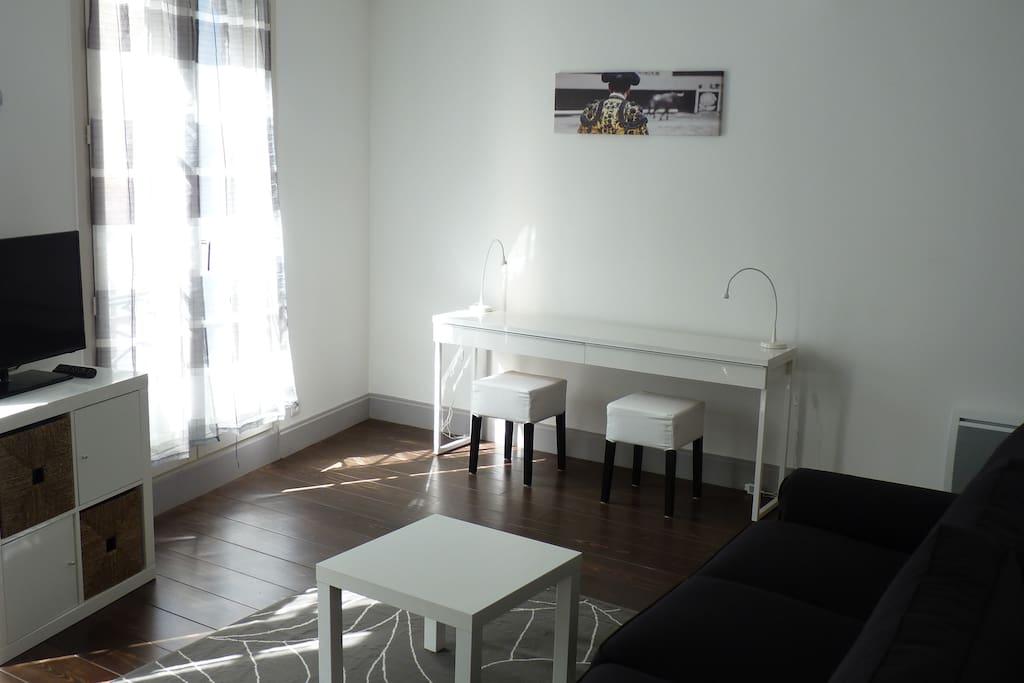 pays basque bayonne biarritz charmant meubl flats for. Black Bedroom Furniture Sets. Home Design Ideas