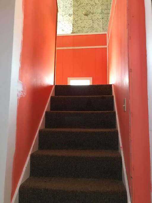 Stairs going to second floor