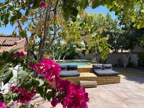 Azul añil EL PATIO Casa rural en Alameda
