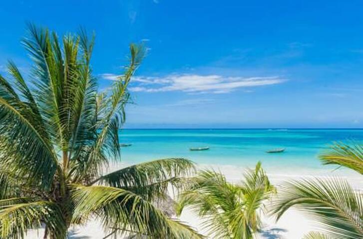 Furaha Beach Villa Chini - 3 bdr Ocean apartment