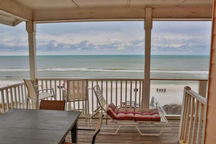 Ocean Air Lower East is Beachfront on 30A! Newly Renovated! Directly on 100% private beach.  April and May Discounts Now Active! Beautiful updated 2-bedroom unit. Just step outside onto Santa Rosa's beautiful white sand beaches.