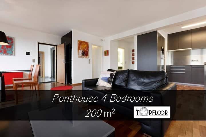 4 Bedrooms Top Floor Lux City
