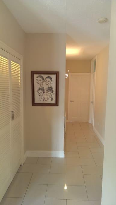 Corridor to Bedroom and Bathroom.