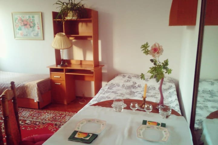 Spacious room, good access to the City center