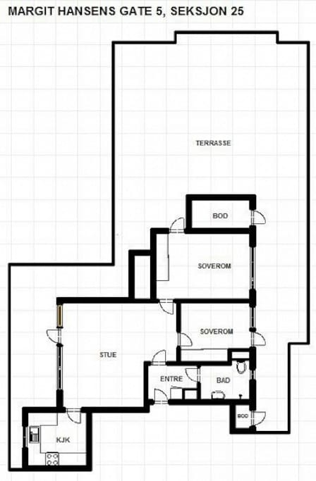 Overview drawing of apartment