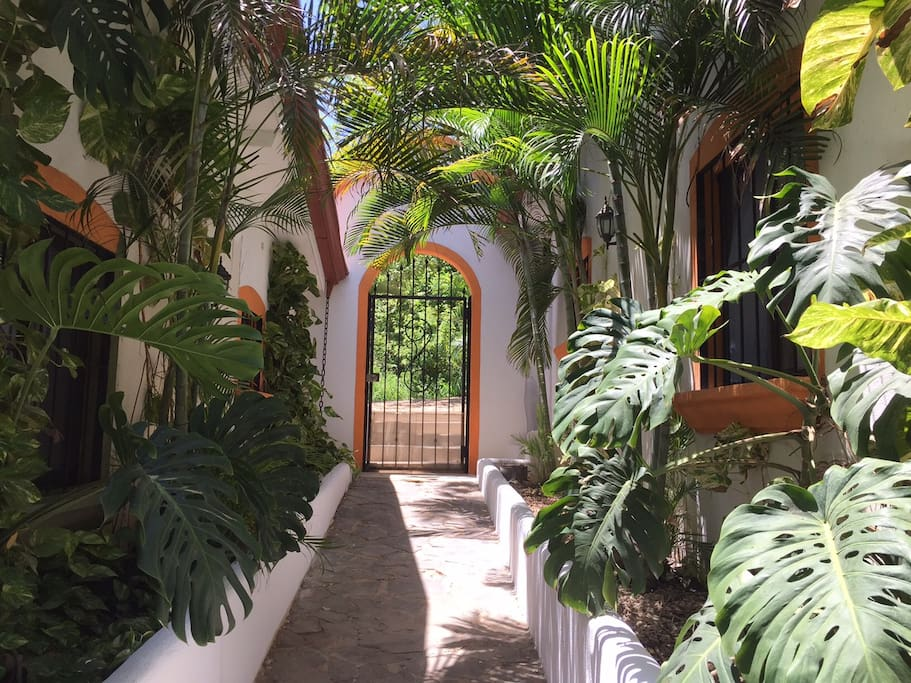 Hotel Entrance viewed from the inside of the property