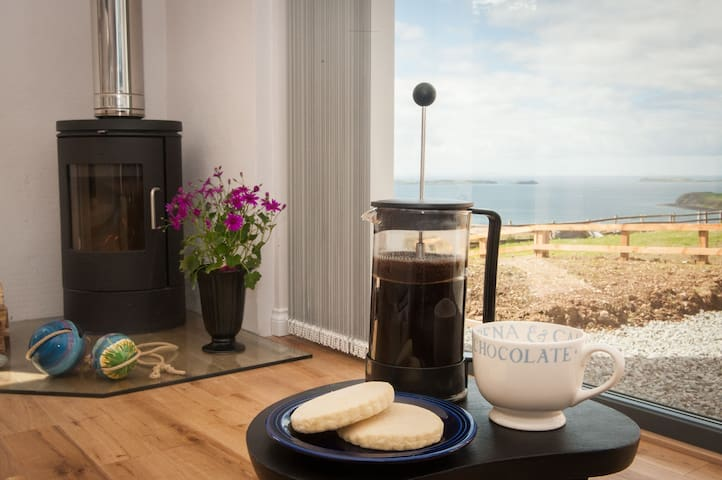 Sit on the settee and enjoy the views whilst enjoying homemade shortbread