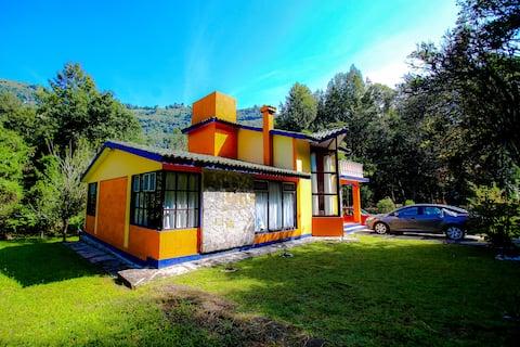 Hermosa cabaña en el bosque de Apulco Pue.