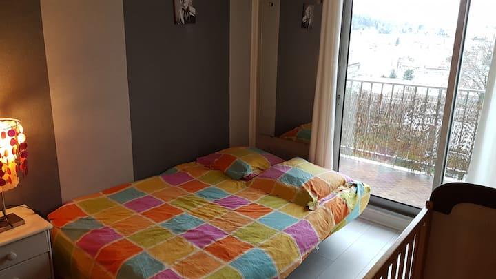 Chambre avec SDB privative dans résidence calme.