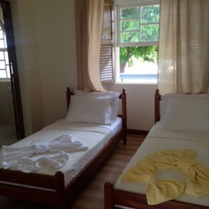 Doudle/Twin bedrooms - sleeps 2 with daily cleaning services.