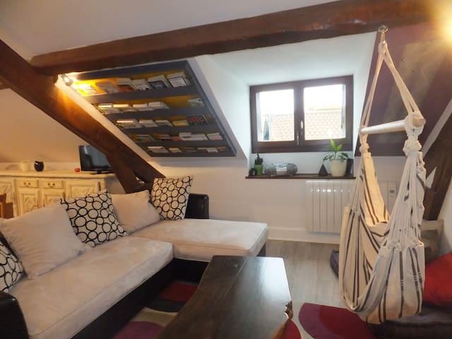 Charmant T3 mansardé et confortable - Hendaye - Apartamento
