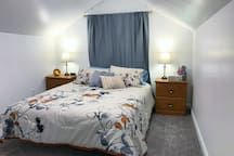 The Sunshine Room has all of the amenities found in all three bedrooms - two lamps, a programmable alarm clock, tissues, and a box of personal toiletries and items you may have forgotten!