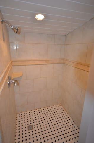 Brand NEW tiled shower!