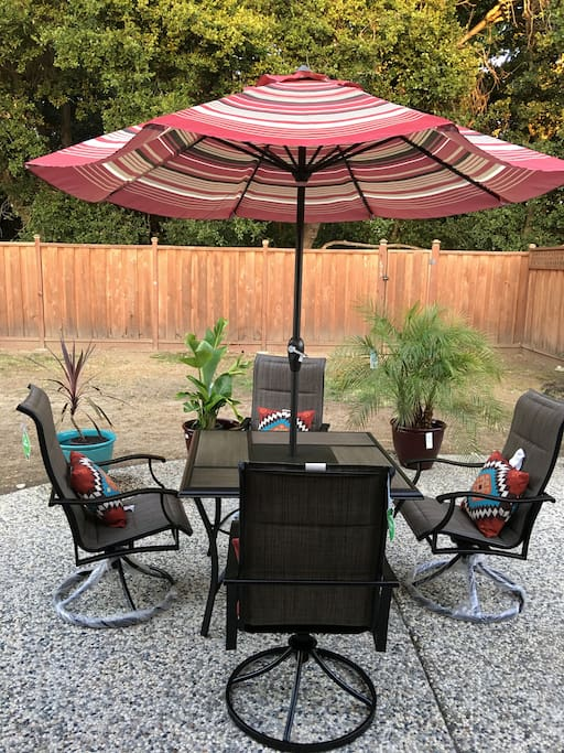 Back Yard with Patio Chairs