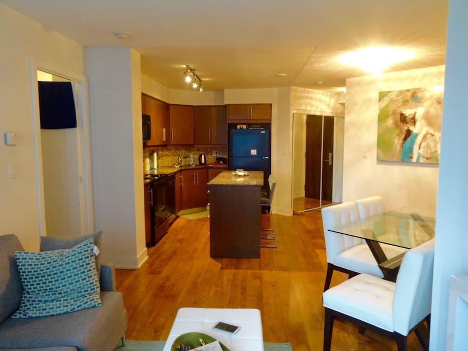 Main area + kitchen