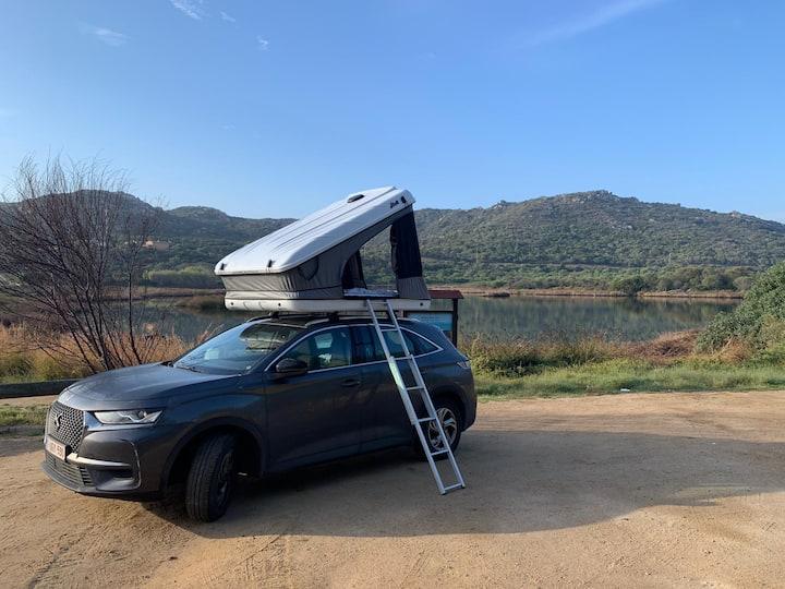 Tente de toit pour voyage insolite (2 personnes)
