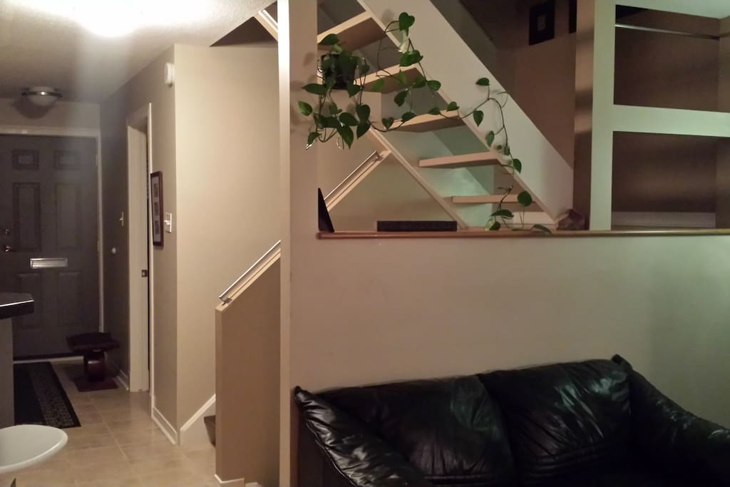 Open concept home.  Entrance and hallway