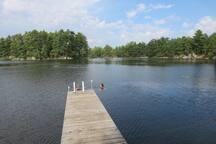 Dockside swimming