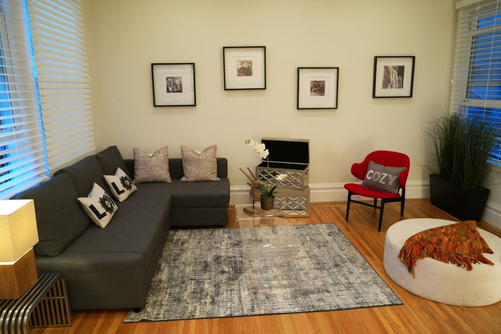 Interior Decorator recently completed design urban lair!