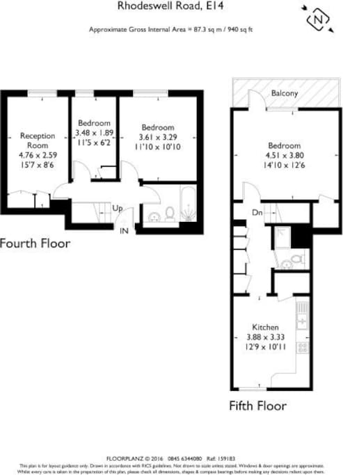 Floor plan | 87.3 sqm