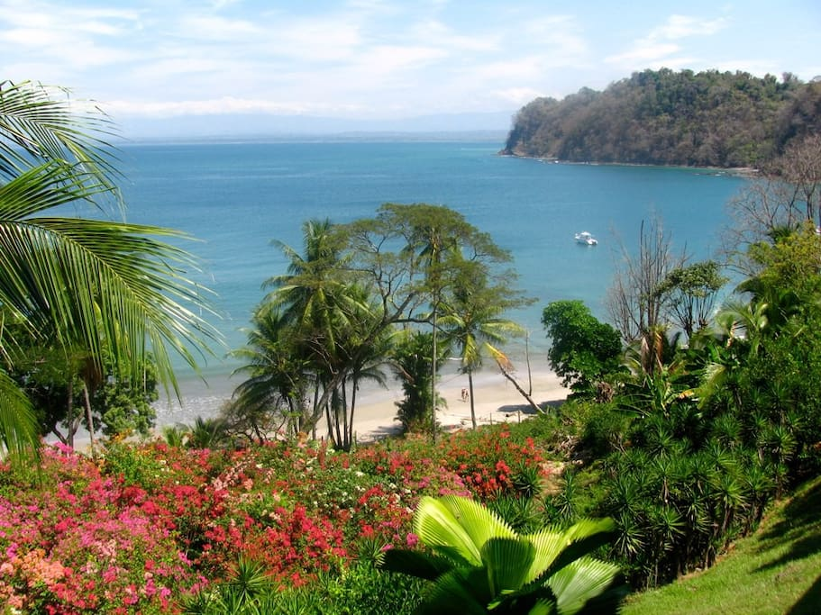 And this is another view of Playa Mantas. The beach is directly below the house.