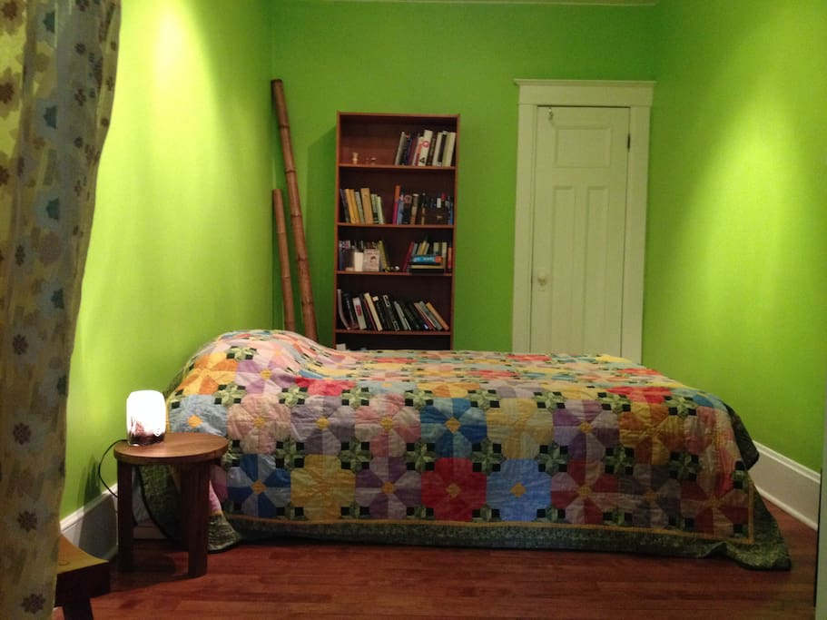 Yes! I have a lime green bedroom. The curtain to the left creates privacy between bedroom and lounging area.