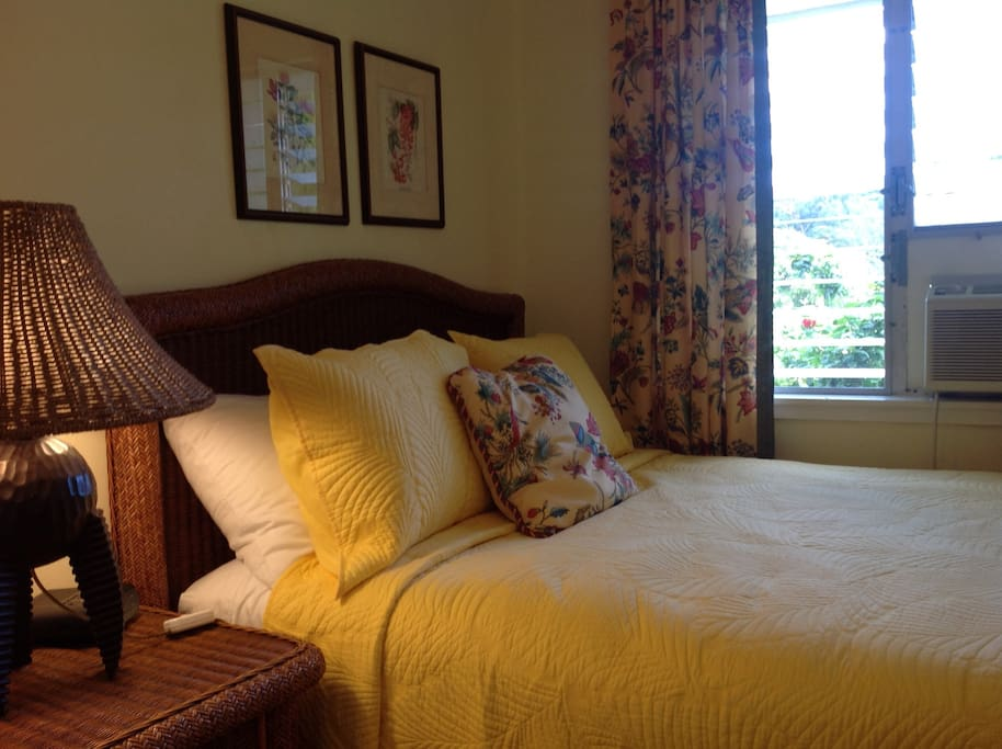 Bedroom is air conditioned for your sleeping comfort.