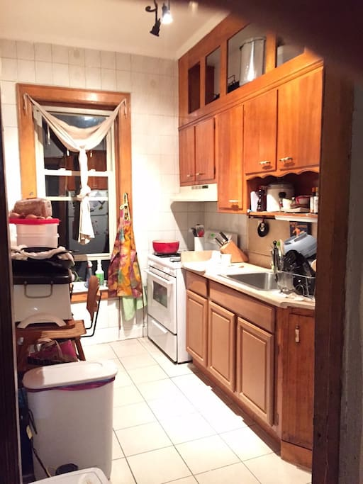 Medium-sized kitchen, room for 2. All you would need!