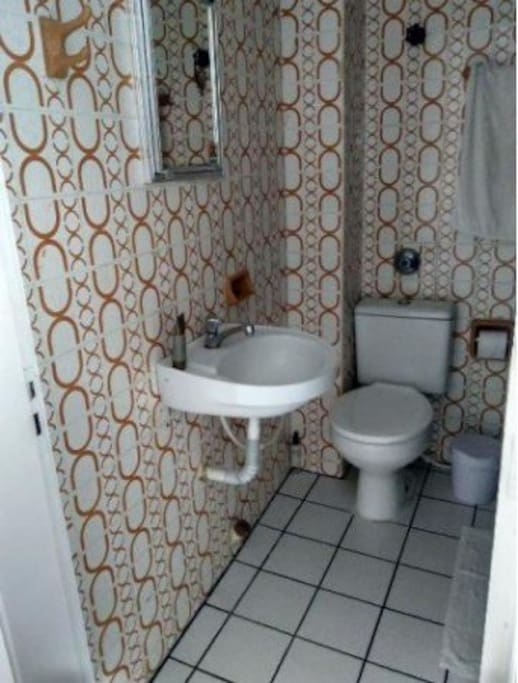 Vista de banheiro da suíte