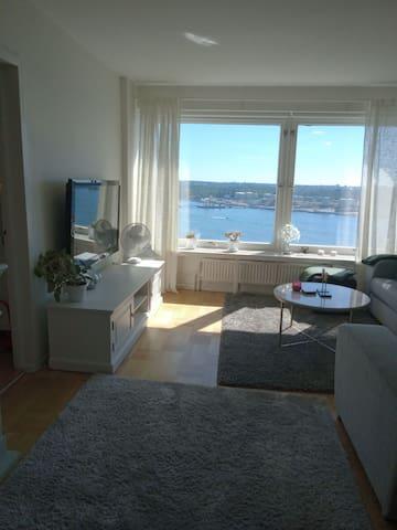 Lägenhet med med fantastisk utsikt över Stockholm