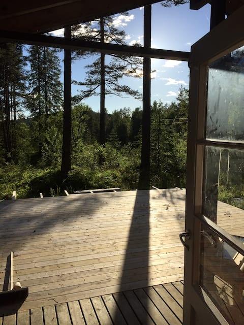 Cottage in the woods near Ålesund Koselig Hytte
