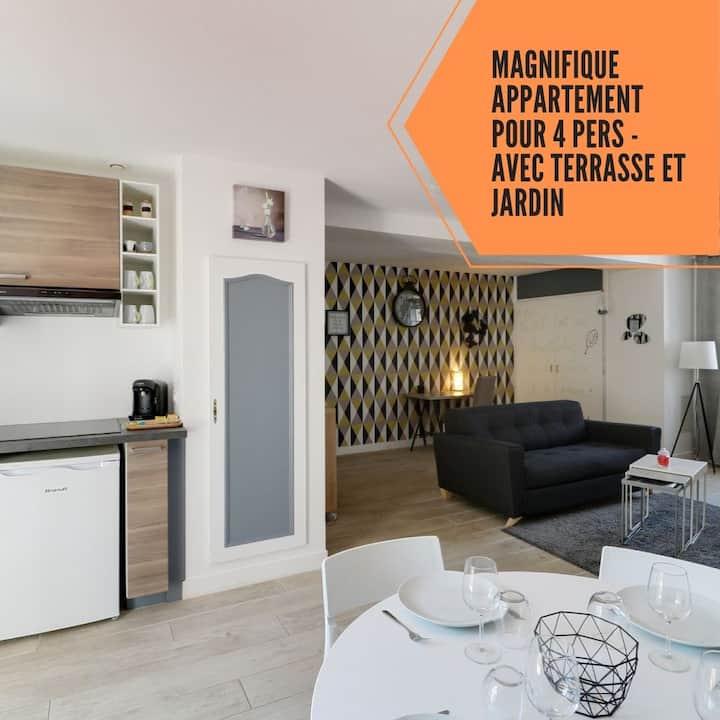 Suite Constance - 2 pièces 60m² terrasse privative
