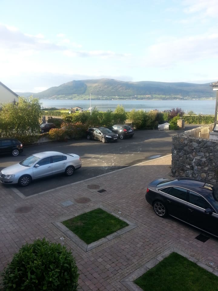 View of Mourne Mountains and Carlingford Lough from Front Bedroom