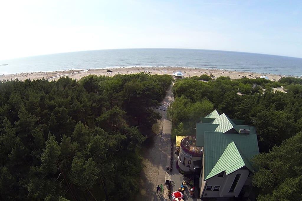View of Vila Krantas from above