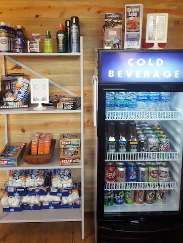 Visit the Guest Canteen (in front of Cabin #1) -you'll find cold drinks,  sunscreen, Colorado-made souvenirs, and bug spray.