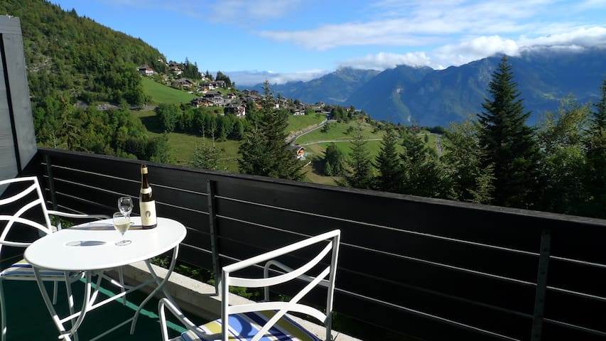 Duplex apartment - two balconies & stunning views - Torgon - Apartament