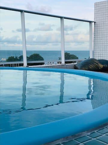 Israel Flat cobertura piscina individual frentemar