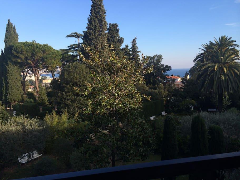 Vue mer et jardin