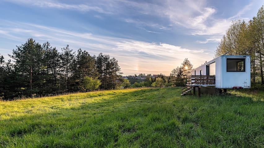 Ubytování na farmě v přírodě.