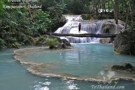 Cute Bamboo Bungalow Erawan N.Park - Kanchanaburi Erawan National Park, Kanchanaburi, Thailand - Bungalow