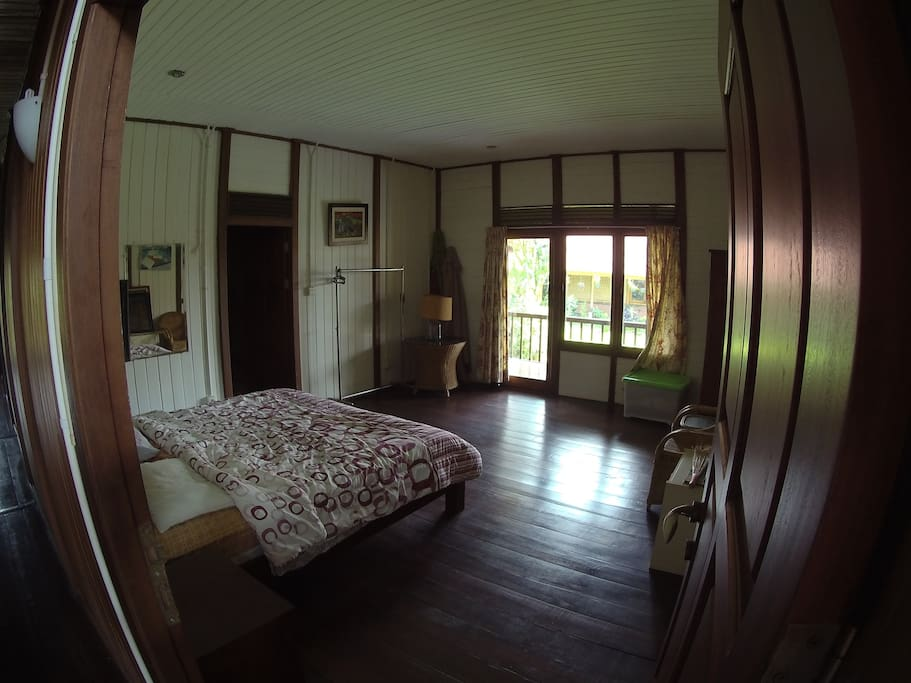 one of the four bedrooms, each with their own private bathroom and WiFi connection