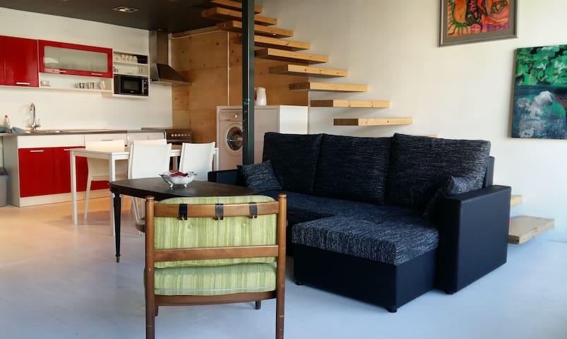 Quiet Loft studio-apartment near the Old Town